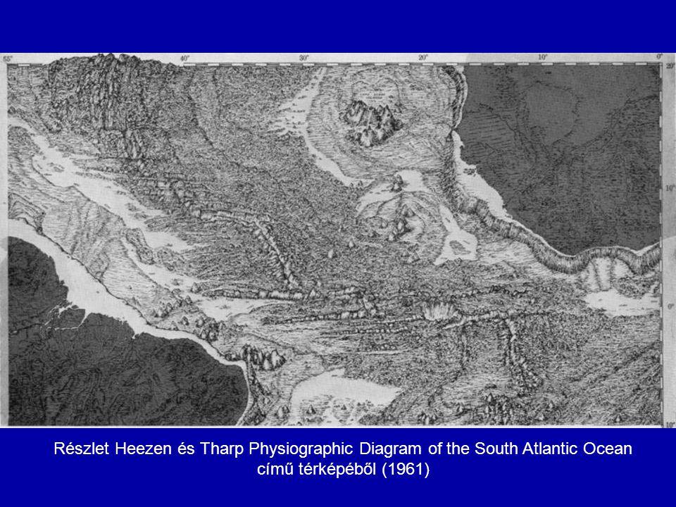 Részlet Heezen és Tharp Physiographic Diagram of the South Atlantic Ocean című térképéből (1961)