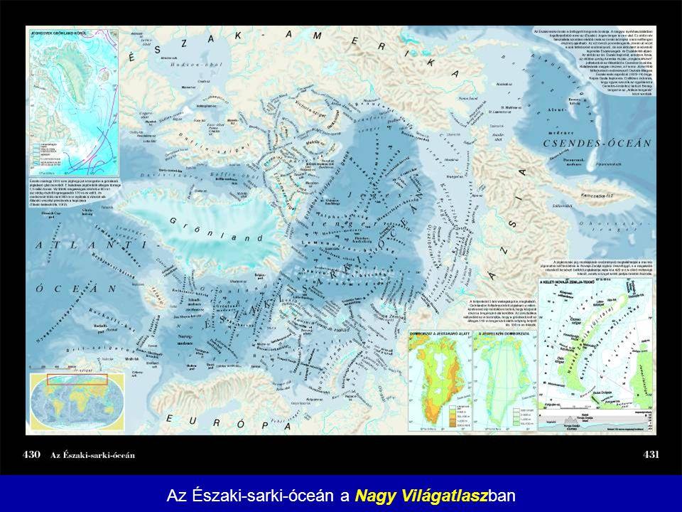 Az Északi-sarki-óceán a Nagy Világatlaszban