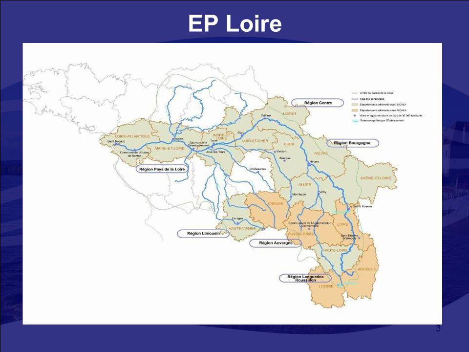 3 EP Loire 1983 decentralizáció – területi közösség : Loire védelme, árvizek –Vegyes szakszervezet - 50 közösség: 6 régió, 16 megye, 18 város és agglo