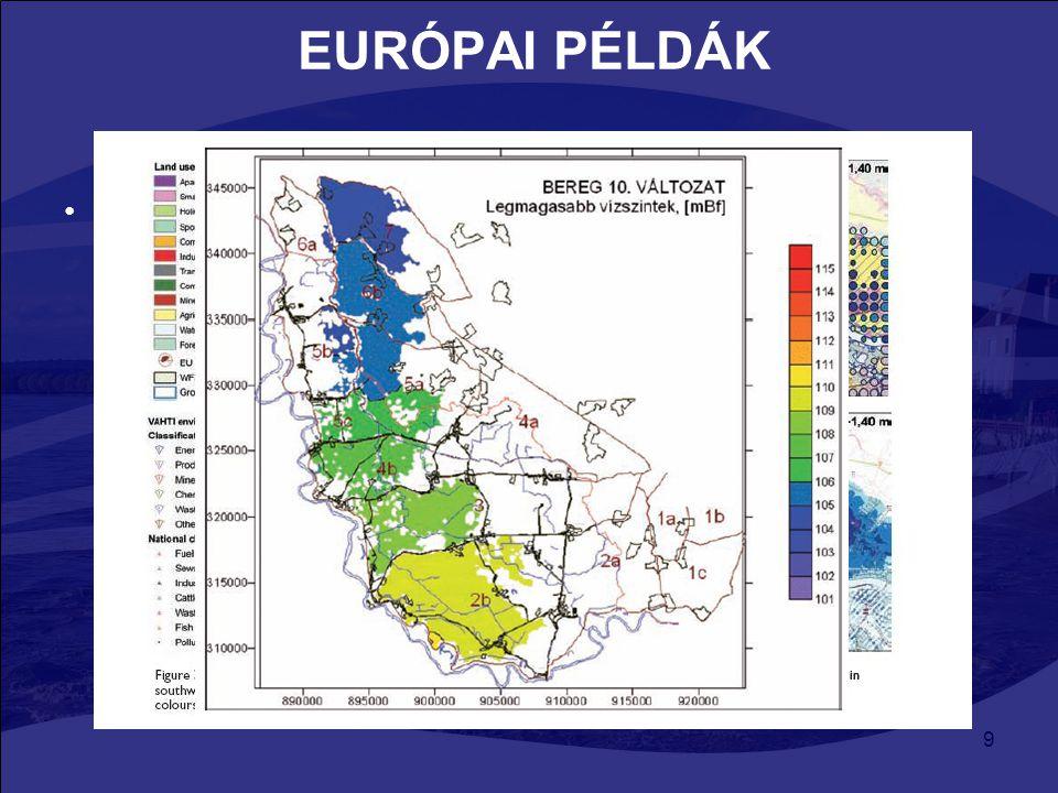 20 KOCKÁZATI ÁRVÍZSZINT Cher Létező árvízkockázati térképek: –Kockázat előrejelzési tervek (megyei szinten kezelik) –Atlasz az árvíz veszélyeztette területekről (alsó folyásvidék) Felmerülő problémák: –Cher megyében nincs egységes vektorizált árvízszint –Kockázat előrejelzési tervek a legnagyobb árvízszint alapján készültek (gyakoriság 100 év) Hidrogeomorfológiai módszer: –Geológiára (allúvium) alapoz –BRGM 1:50 000 földtani térkép, WMS szerver –Így meghatározott árvízszintet vehetjük alapnak
