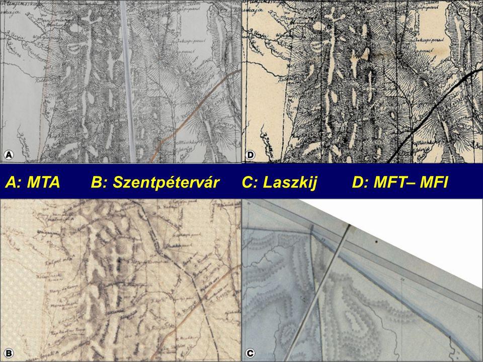 A: MTA B: Szentpétervár C: Laszkij D: MFT– MFI