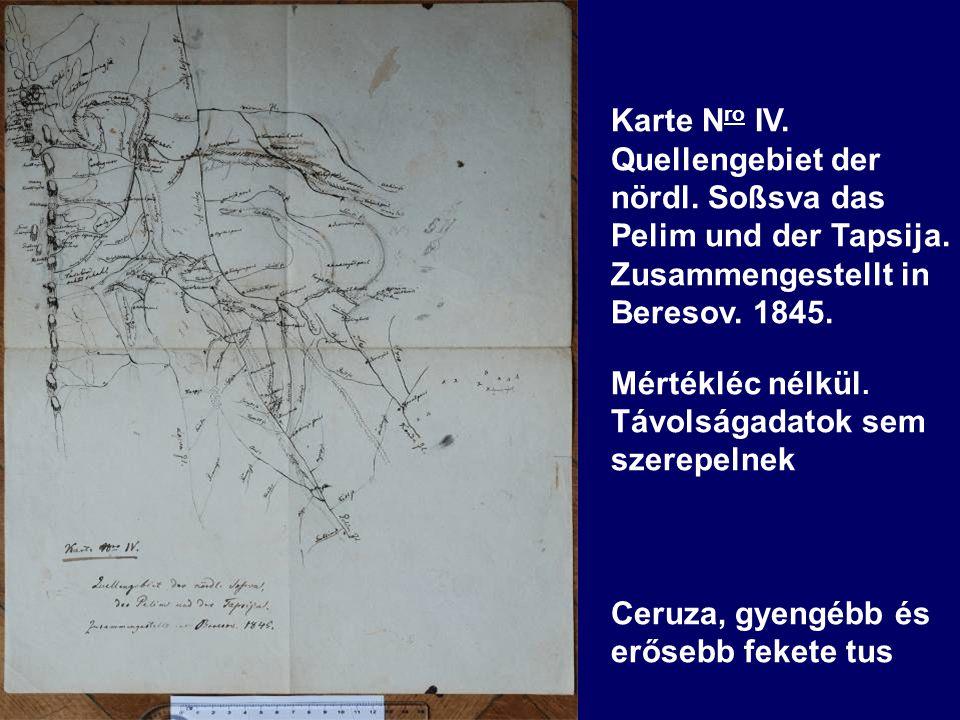 Karte N ro IV. Quellengebiet der nördl. Soßsva das Pelim und der Tapsija.