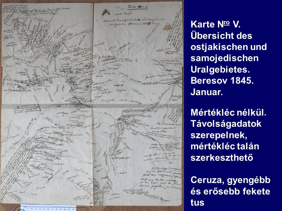 Karte N ro V. Übersicht des ostjakischen und samojedischen Uralgebietes.