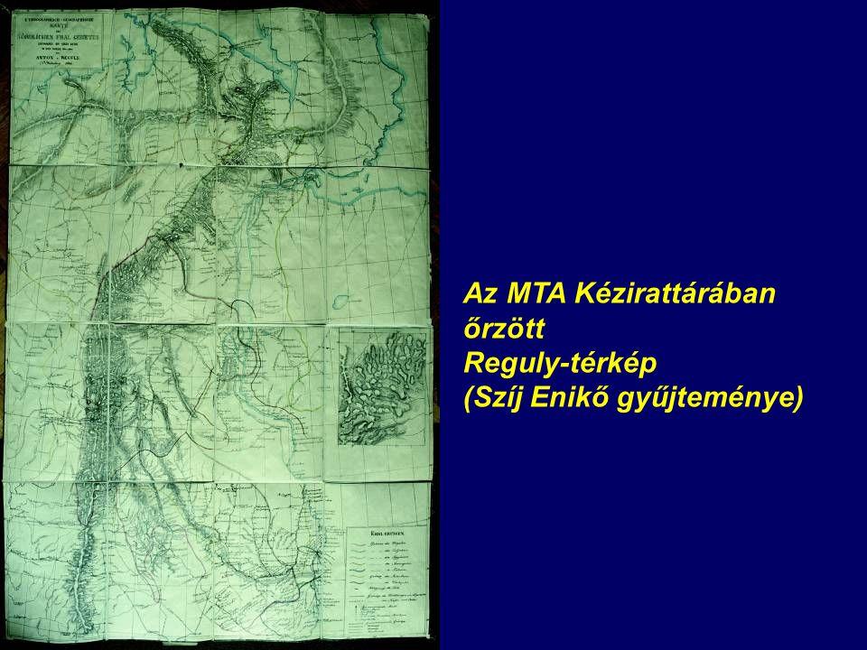 A Reguly-térkép hátoldala az 1847-es bevételezési cimkével (MTA Kézirattár)