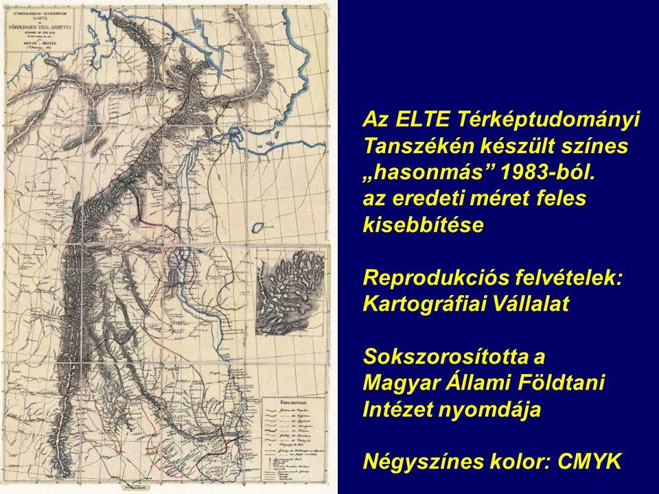 """Az ELTE Térképtudományi Tanszékén készült színes """"hasonmás 1983-ból."""
