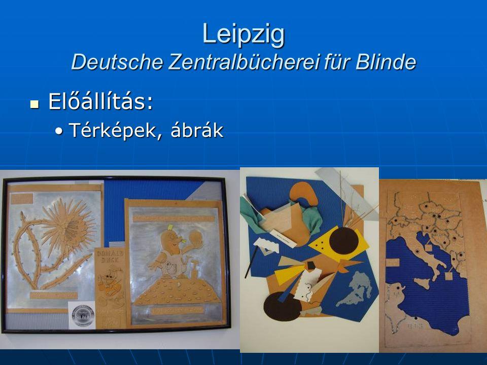 Leipzig Deutsche Zentralbücherei für Blinde Előállítás: Előállítás: Térképek, ábrákTérképek, ábrák