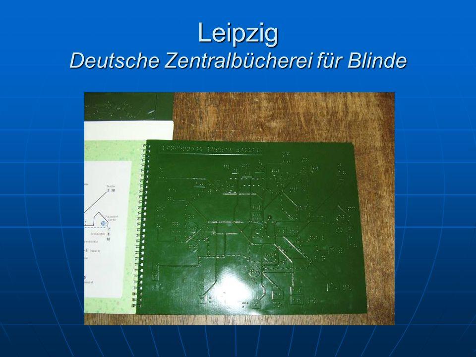 Leipzig Deutsche Zentralbücherei für Blinde