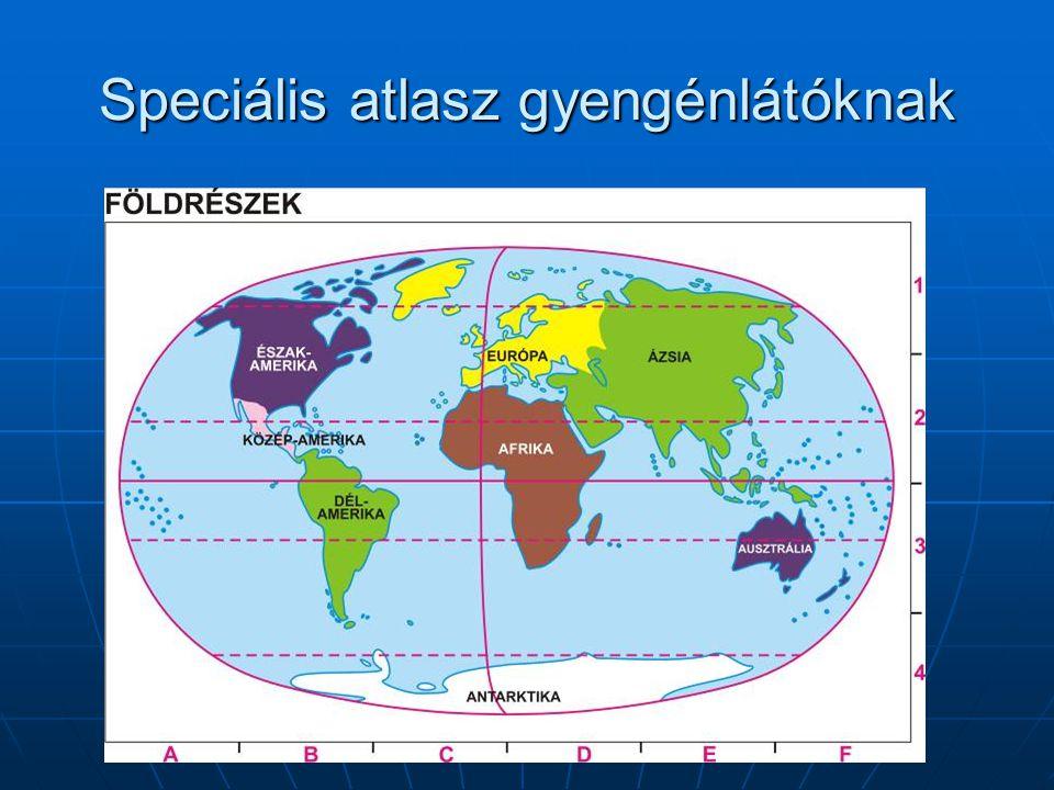Speciális atlasz gyengénlátóknak