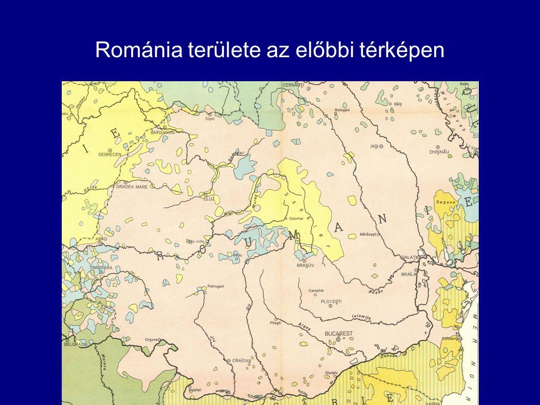 Románia területe az előbbi térképen