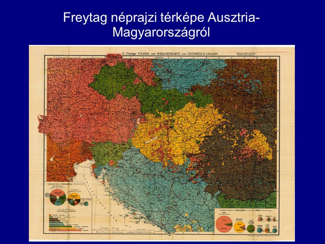 Freytag néprajzi térképe Ausztria- Magyarországról