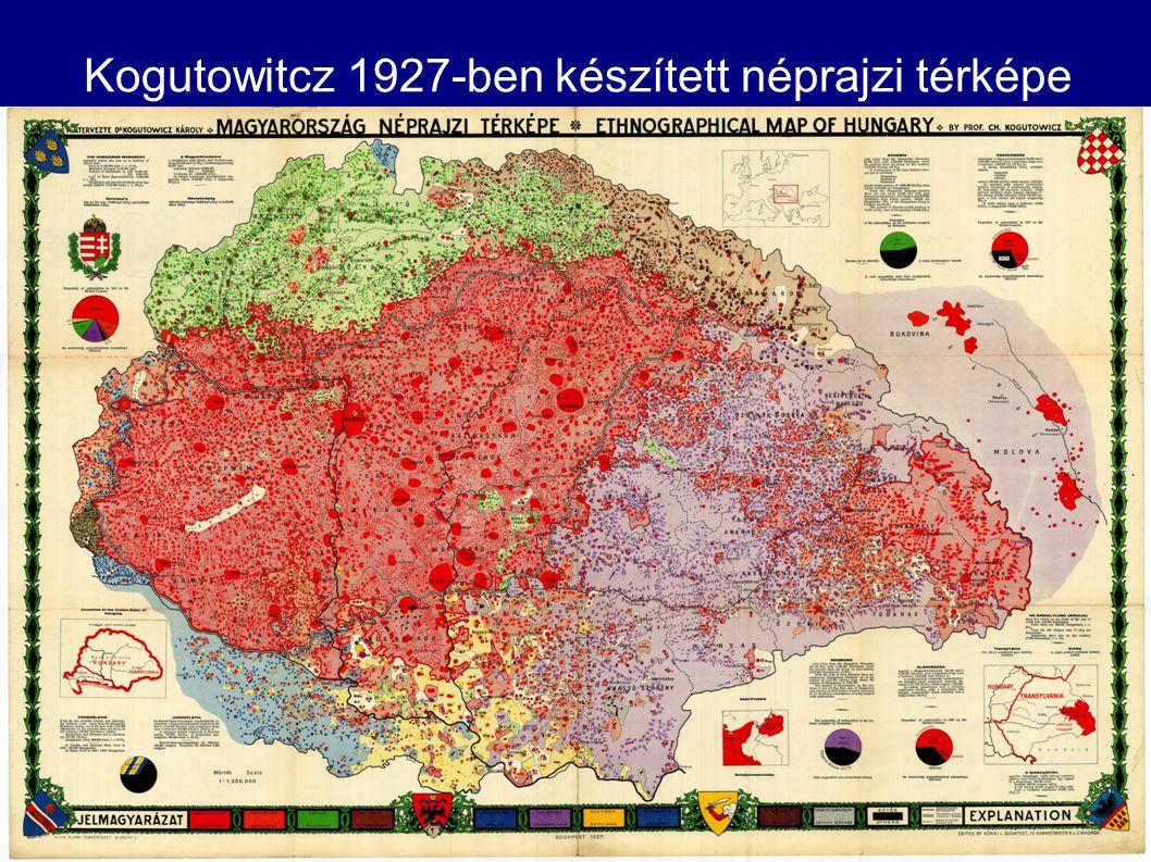 Kogutowitcz 1927-ben készített néprajzi térképe