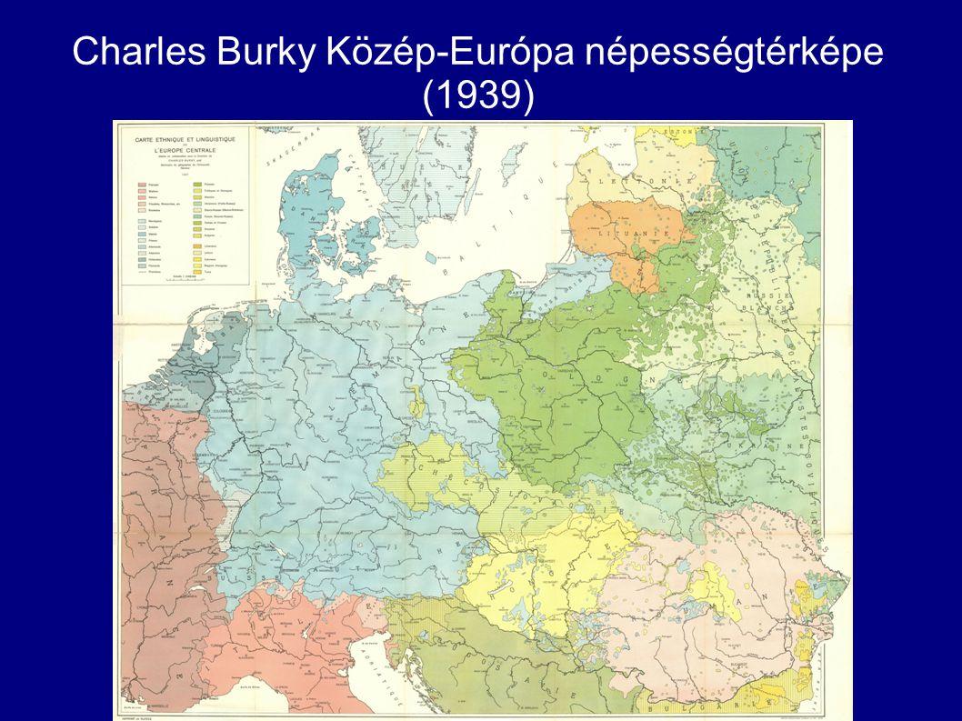 Charles Burky Közép-Európa népességtérképe (1939)