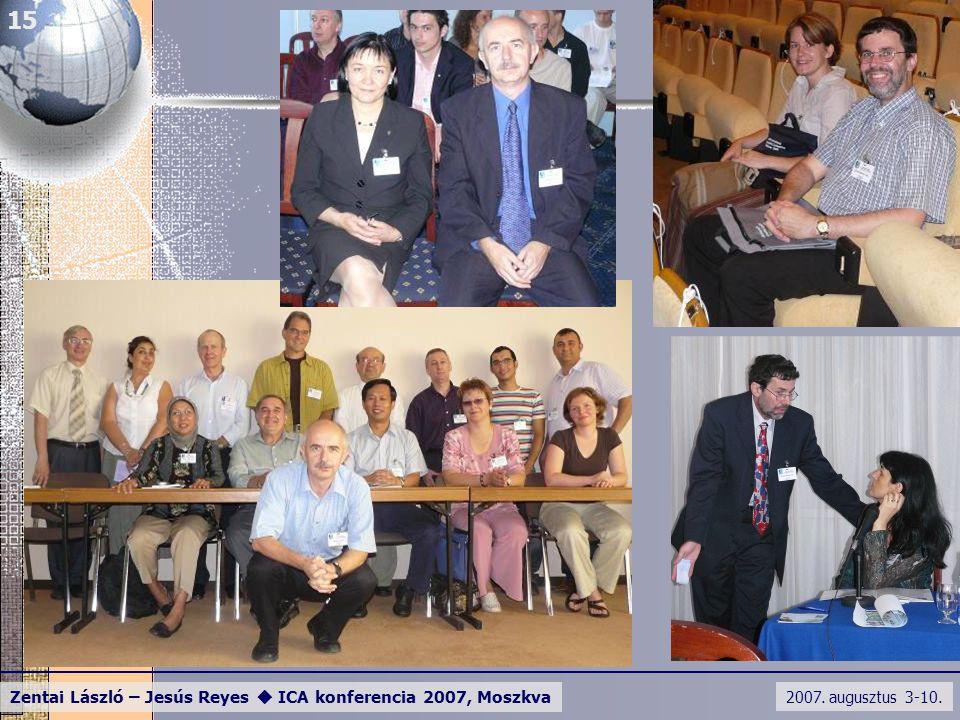 2007. augusztus 3-10. Zentai László – Jesús Reyes  ICA konferencia 2007, Moszkva 15