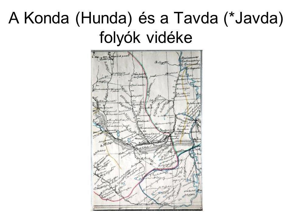 A Konda (Hunda) és a Tavda (*Javda) folyók vidéke