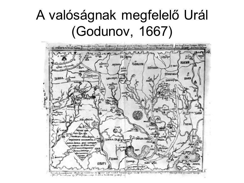 A valóságnak megfelelő Urál (Godunov, 1667)