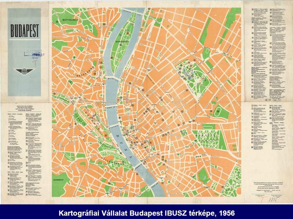 Kartográfiai Vállalat Budapest IBUSZ térképe, 1956