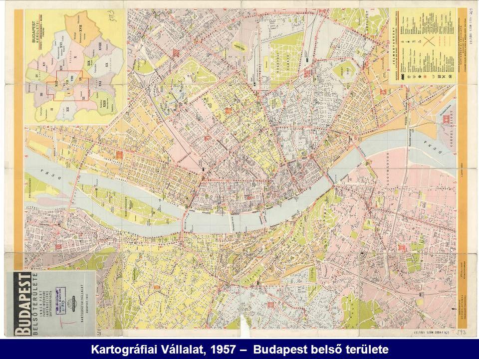 Kartográfiai Vállalat, 1957 – Budapest belső területe