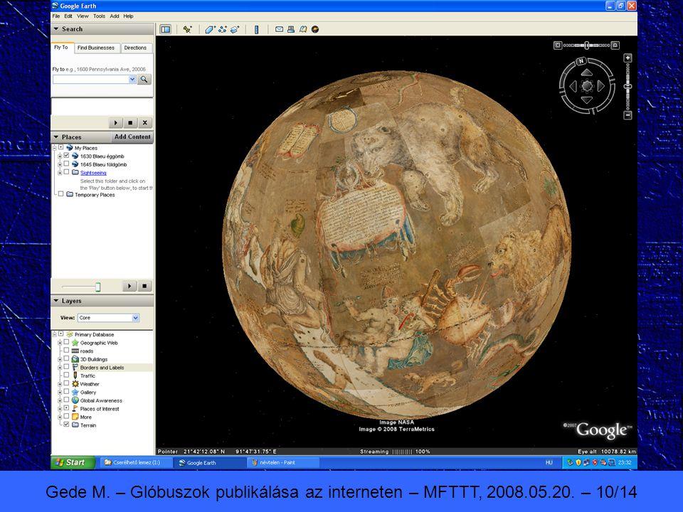 Gede M. – Glóbuszok publikálása az interneten – MFTTT, 2008.05.20. – 10/14