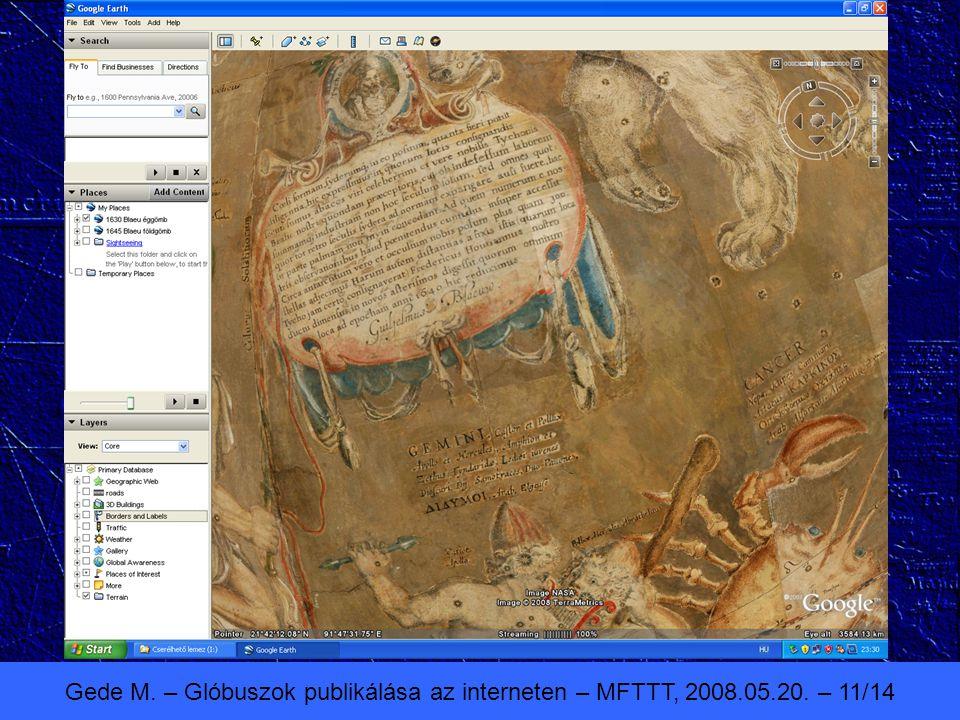 Gede M. – Glóbuszok publikálása az interneten – MFTTT, 2008.05.20. – 11/14