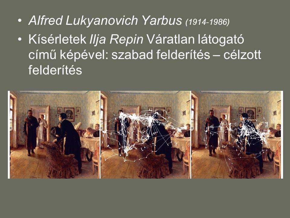 Alfred Lukyanovich Yarbus (1914-1986) Kísérletek Ilja Repin Váratlan látogató című képével: szabad felderítés – célzott felderítés