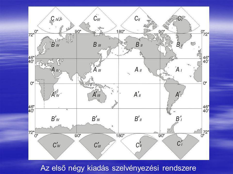 Az első négy kiadás szelvényezési rendszere
