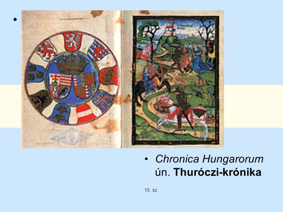 Thuróczi János megerősíti a szájhagyományt, s a székelyek sajátjának véli a rovásírást Chronica Hungarorum ún. Thuróczi-krónika 15. sz.