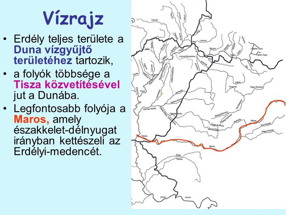 Vízrajz Erdély teljes területe a Duna vízgyűjtő területéhez tartozik, a folyók többsége a Tisza közvetítésével jut a Dunába. Legfontosabb folyója a Ma