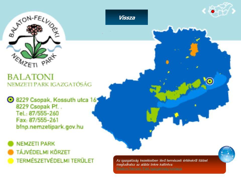 Az igazgatóság kezelésében lévő természeti értékekről többet megtudhatsz az alábbi linkre kattintva: Balatoni Nemzeti Park Igazgatóság honlapja Vissza