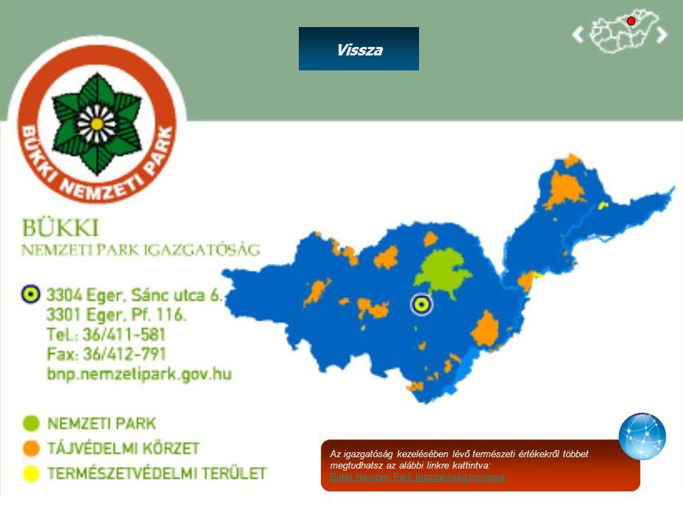 Vissza Az igazgatóság kezelésében lévő természeti értékekről többet megtudhatsz az alábbi linkre kattintva: Bükki Nemzeti Park Igazgatóság honlapja
