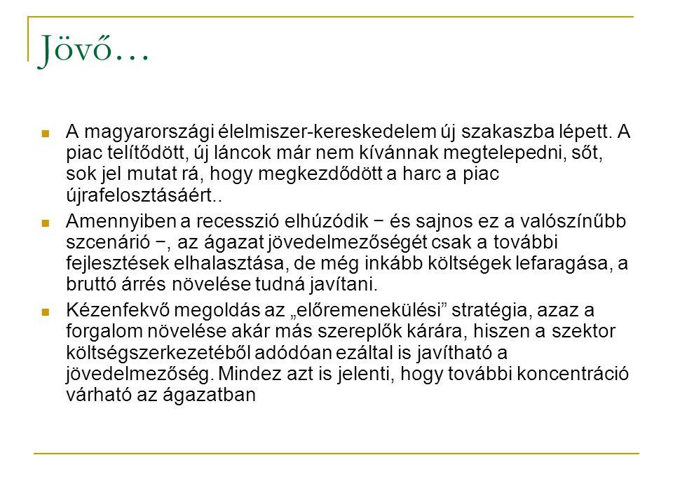 Jövő… A magyarországi élelmiszer-kereskedelem új szakaszba lépett. A piac telítődött, új láncok már nem kívánnak megtelepedni, sőt, sok jel mutat rá,