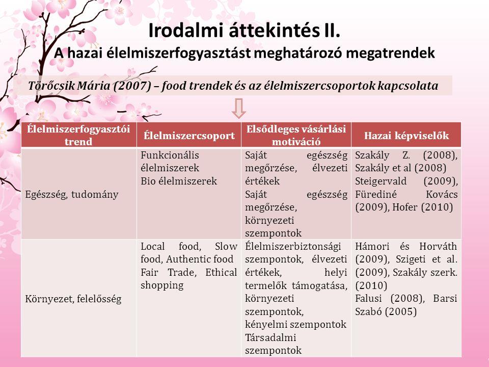 Irodalmi áttekintés II.