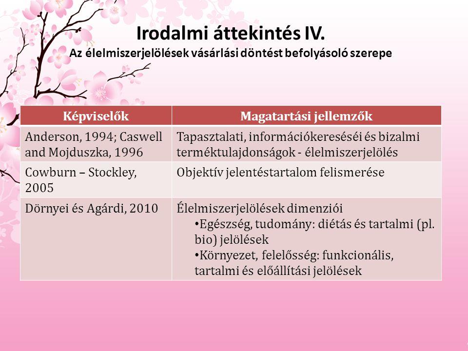 Irodalmi áttekintés IV.