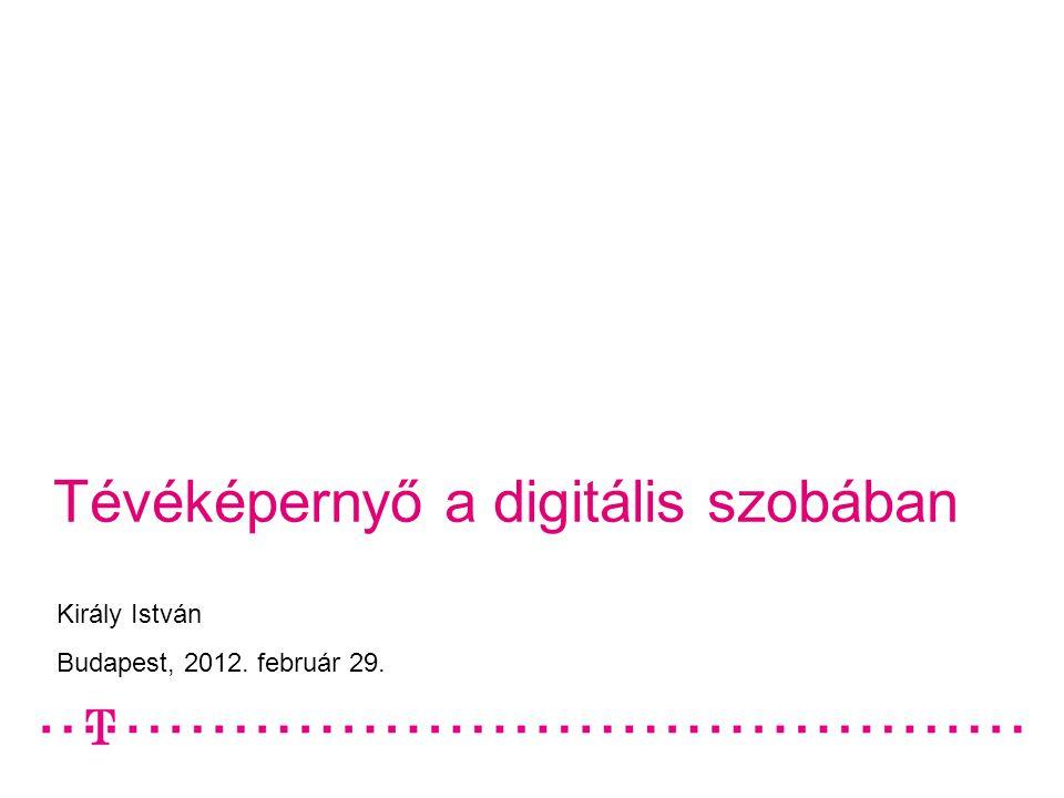 Tévéképernyő a digitális szobában Király István Budapest, 2012. február 29.