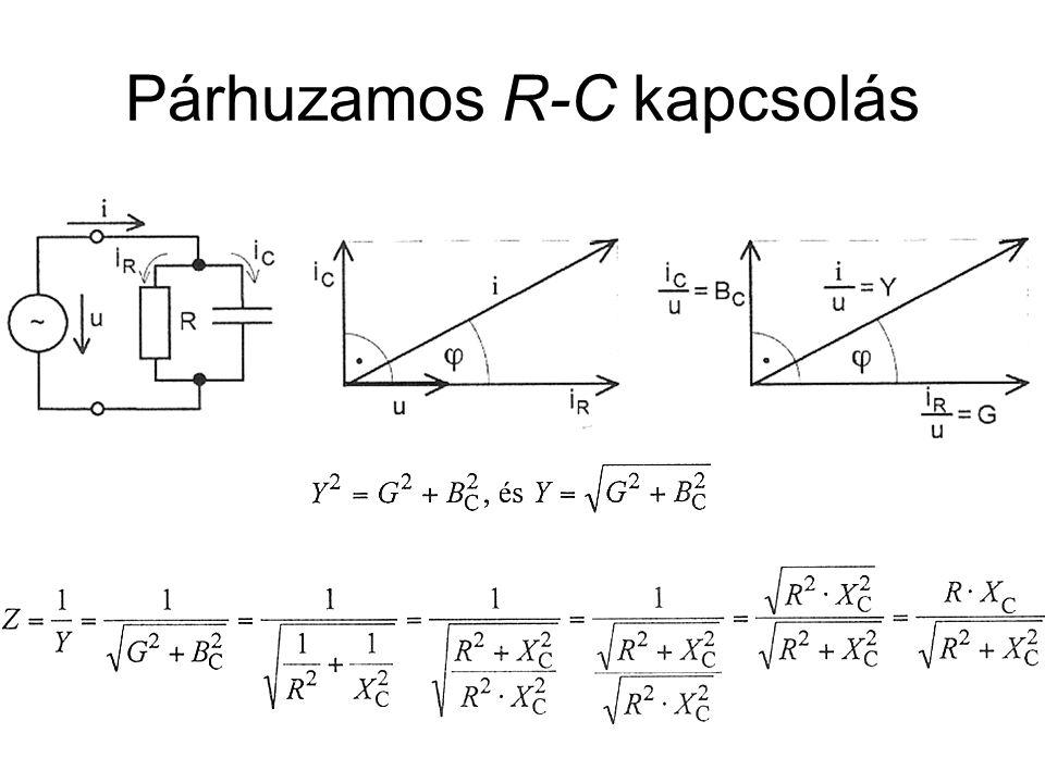 Párhuzamos R-C kapcsolás