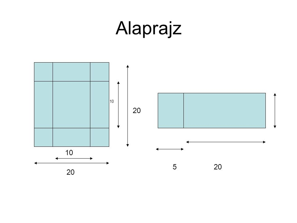 Alaprajz 20 10 20 5 20