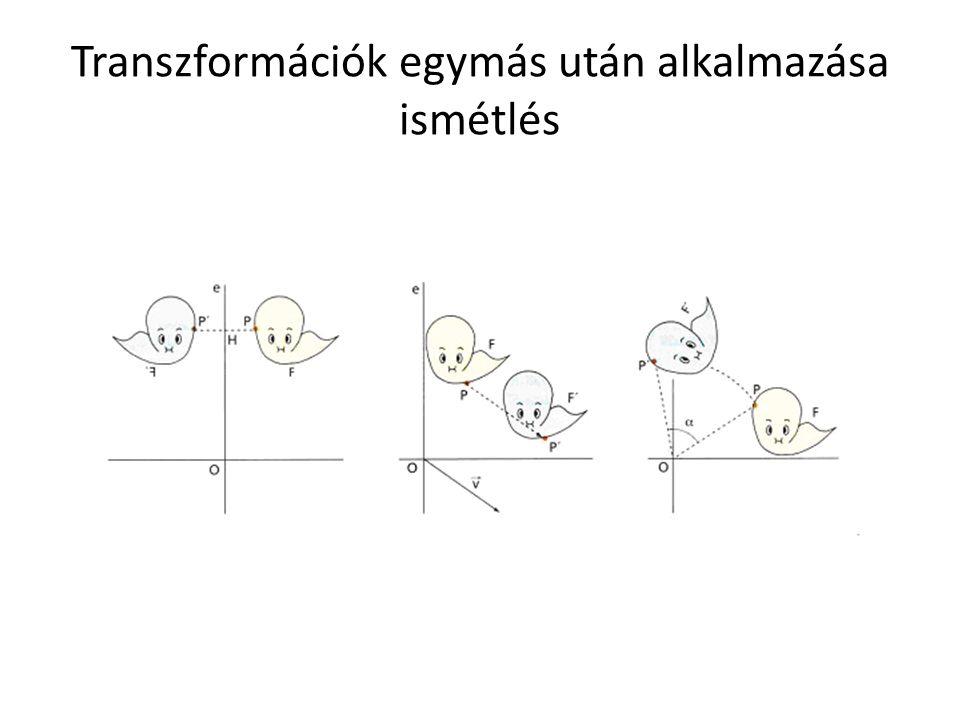 Transzformációk egymás után alkalmazása ismétlés