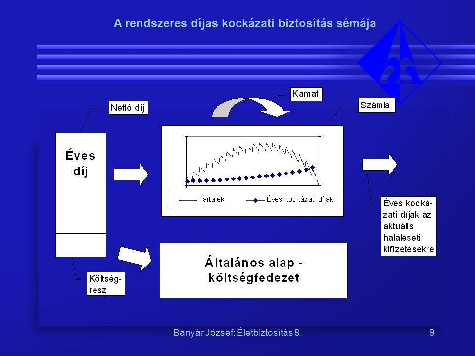 Banyár József: Életbiztosítás 8.9 A rendszeres díjas kockázati biztosítás sémája