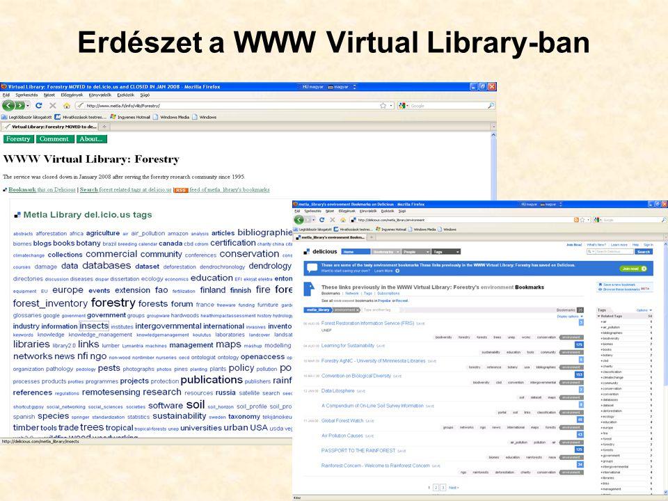 38 Erdészet a WWW Virtual Library-ban