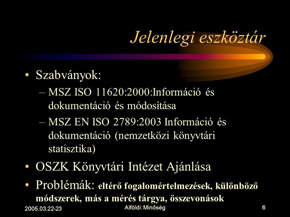 2005.03.22-23 Alföldi: Minőség5 Globális trendek 1. Perszonalizált szolgáltatások 2. Együttműködés. Stratégiai szövetségek 3. Rugalmas térhasználat 4.