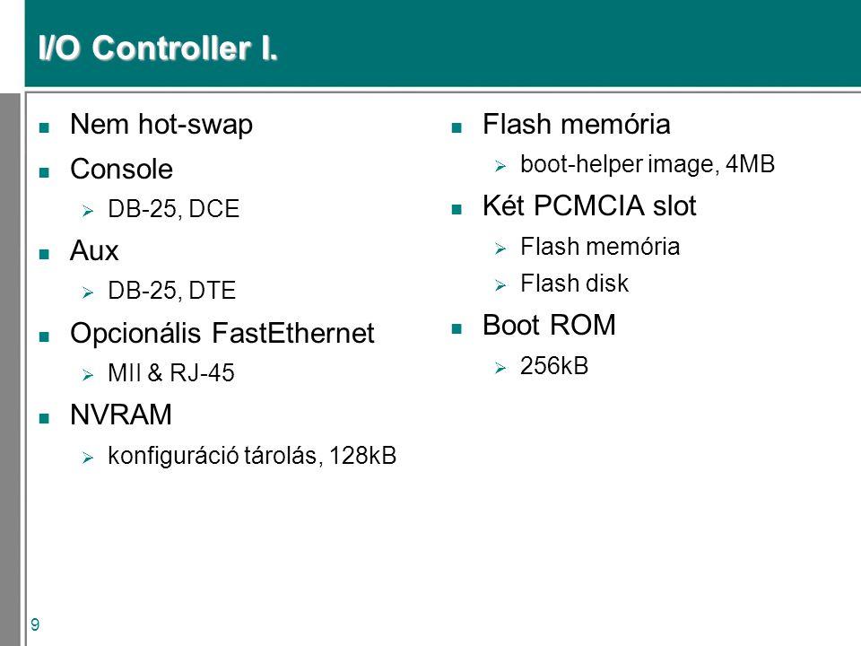 9 I/O Controller I.