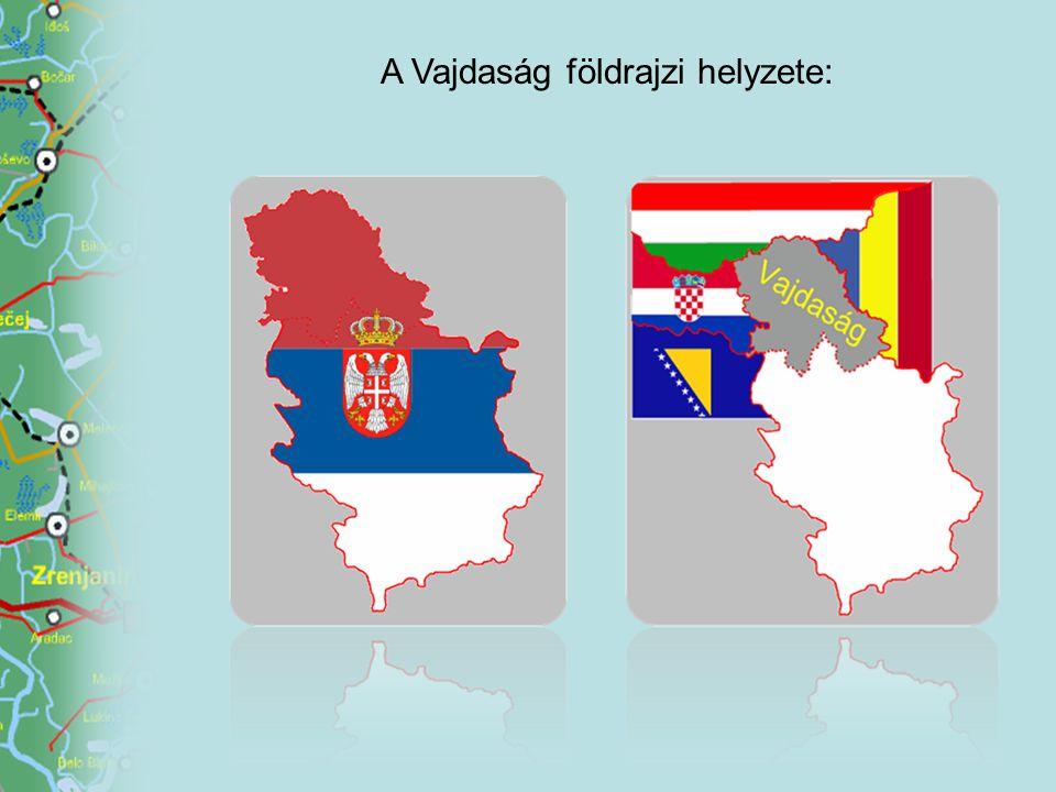 A Vajdaság földrajzi helyzete: