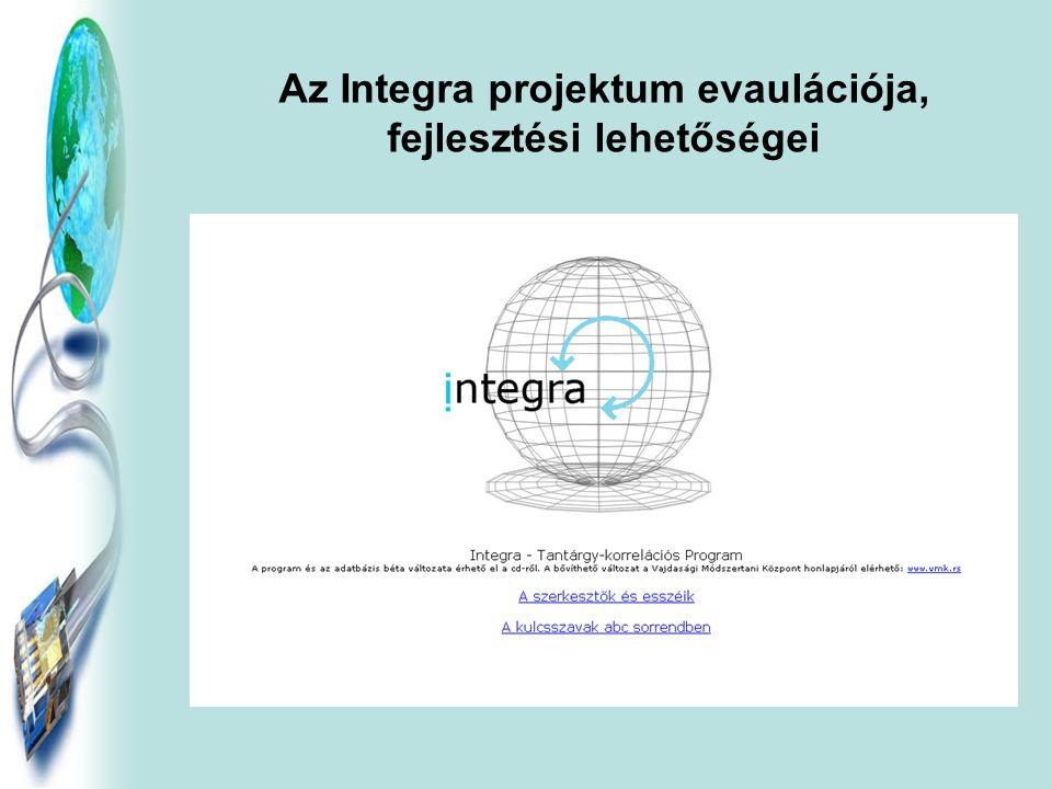 Az Integra projektum evaulációja, fejlesztési lehetőségei