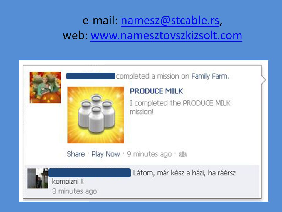 e-mail: namesz@stcable.rs, web: www.namesztovszkizsolt.com