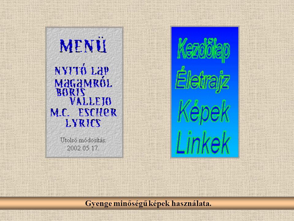 A transzparens (átlátszó) képek helytelen használata (GIF).
