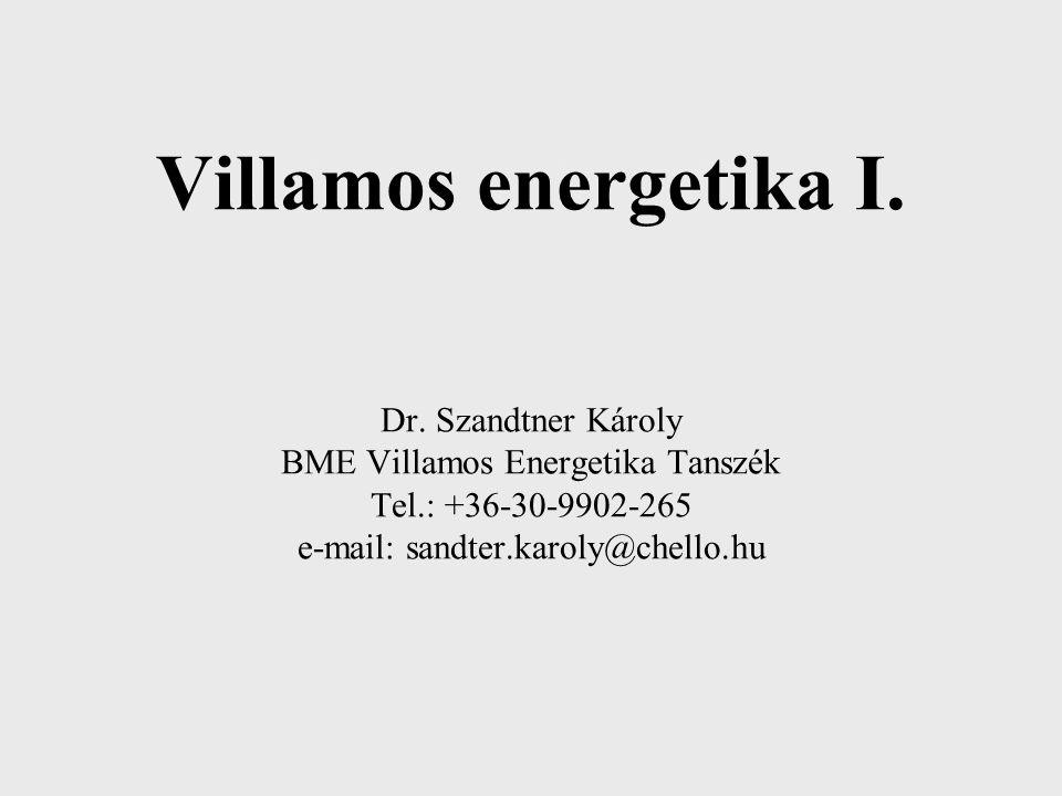 KISFESZÜLTSÉGŰ MEGSZAKÍTÓK Villamos energetika I. Dr. Szandtner Károly BME Villamos Energetika Tanszék Tel.: +36-30-9902-265 e-mail: sandter.karoly@ch