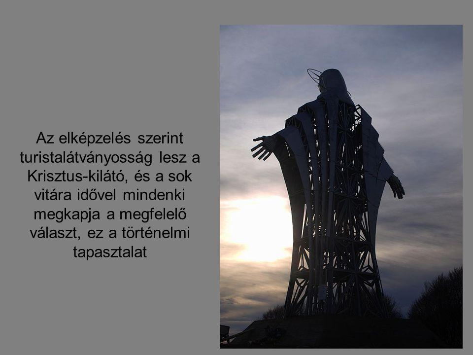A Krisztus szobor a székelyudvarhelyi Zawaczky Walter szobrász tervei alapján készült el