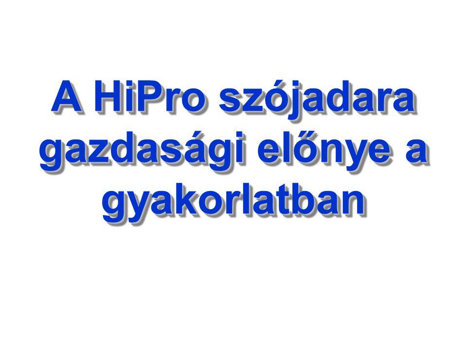 Mi a tanulság.A HiPro (ha a nyersfehérjét nem korlátoztuk) minden esetben kiváltotta a II.o.