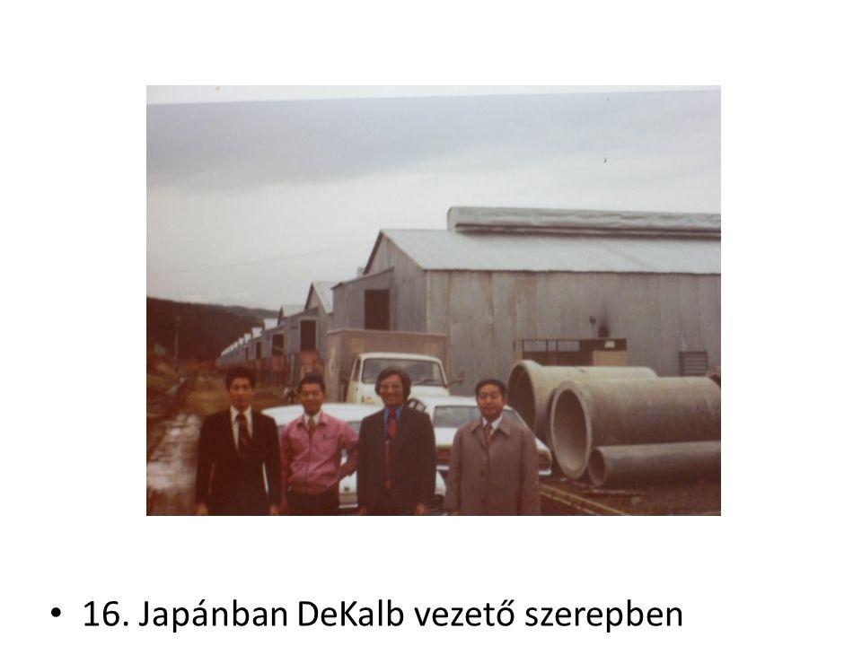 16. Japánban DeKalb vezető szerepben