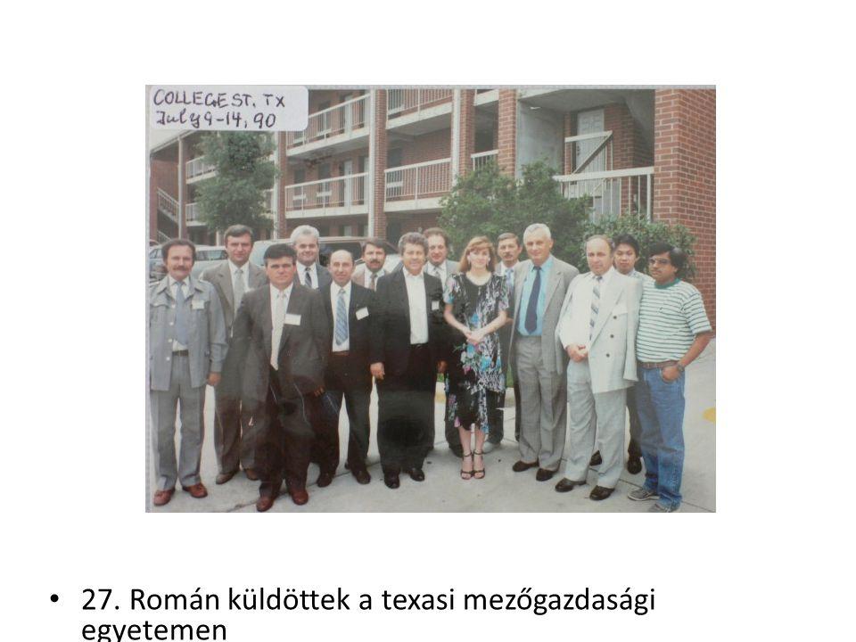 27. Román küldöttek a texasi mezőgazdasági egyetemen
