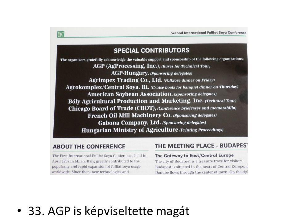 33. AGP is képviseltette magát